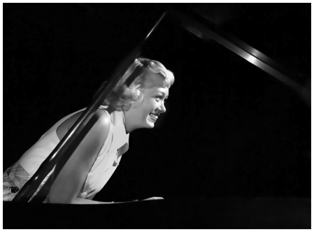 June Christy, Stan Kenton's Orchestra, Balboa, CA. 1950