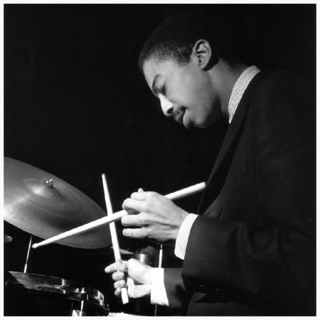 Tony Williams at the Village Vanguard, NYC, September 1965 (photo by Francis Wolff)