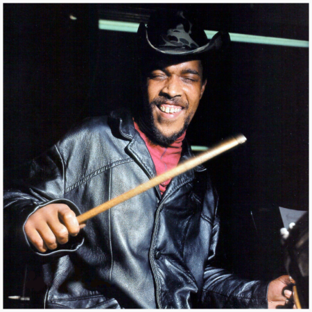 Billy Higgins during a rehearsal for Andrew Hill's Dance With Death session of October 11 1968 (photo by Francis Wolff)