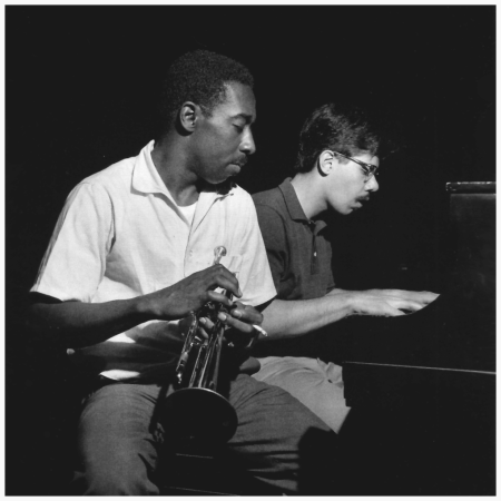 Blue Mitchell and Chick Corea during Mitchell's The Thing To Do session, Englewood Cliffs NJ, July 30 1964 Photo Francis Wolff