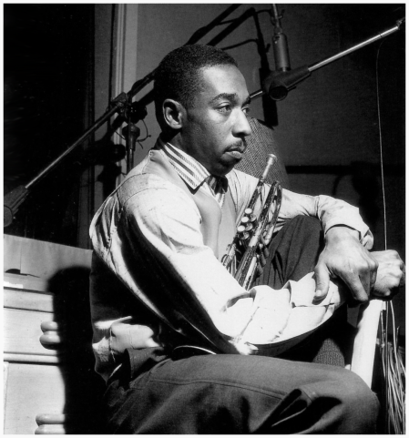 Blue Mitchell during Horace Silver's Finger Poppin' session, Hackensack NJ, February 1 1959 Photo by Francis Wolff