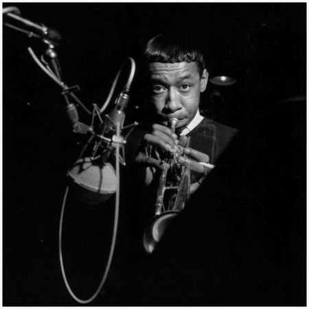 Lee Morgan during The Rumproller session, Englewood Cliffs NJ, April 21 1965