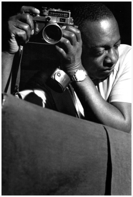 Milt Hinton (who took a good photo) during Ike Quebec's Heavy Soul session, Englewood Cliffs NJ, November 26 1961