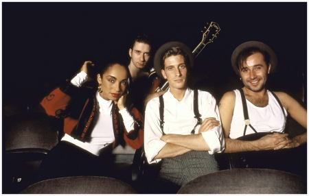 Sade - Peter Jordan 1986 and his band British pop group Sade (L-R): Sade Paul Denman Andrew