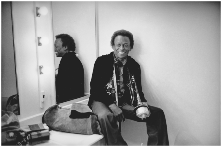 Miles Davis – Original Jim Marshall Photograph backstage at San Francisco's Winterland Auditorium, in 1971