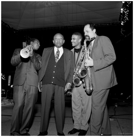 Roy Hargrove Lionel Hampton David Sanchez Joe Lovano photo Fred Jackson