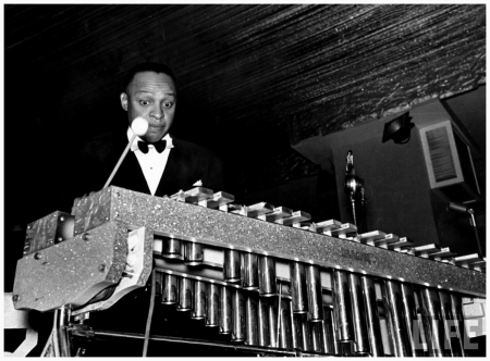 Vibraphonist Lionel Hampton playing w. Benny Goodman's Band in the Manhattan Room at the Pennsylvania Hotel 1937 Rex Hardy Jr