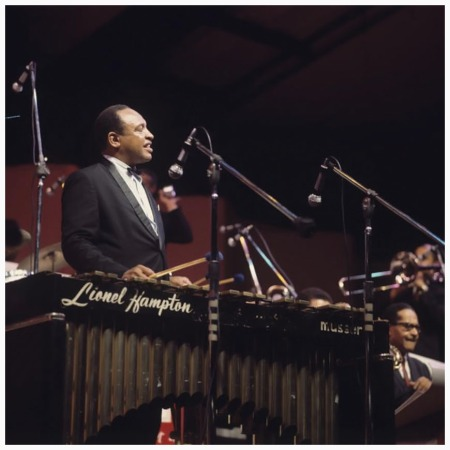 Lionel Hampton Performs On Stage