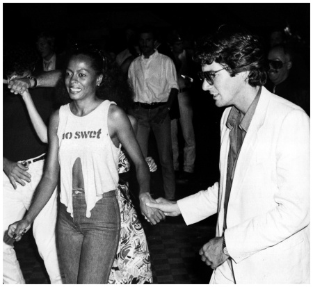 Diana Ross and Richard Gere arriving at Studio 54, 1979 (UPI)