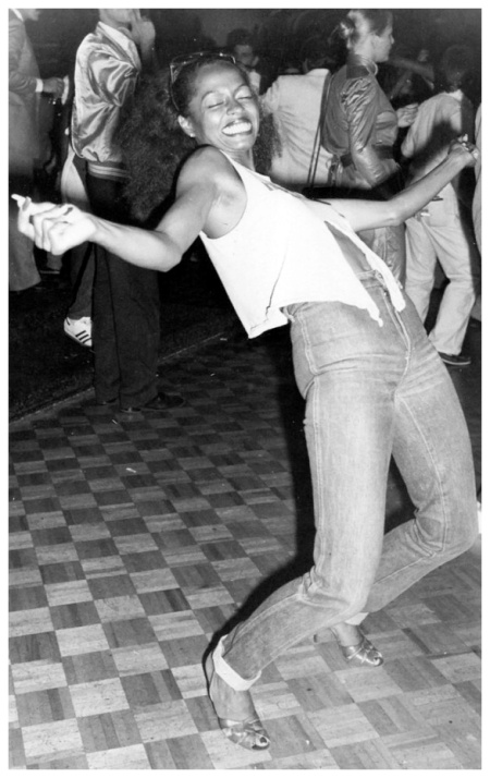 Diana Ross dancing at Studio 54, 1979 (UPI)