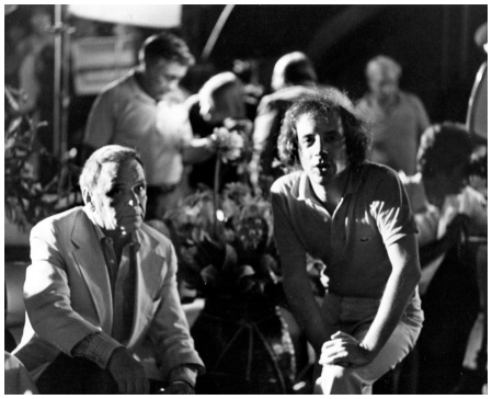 Frank Sinatra and Steve Rubell at Studio 54, 1977 (Russell C. Turiak)