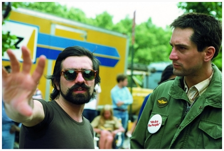 Martin Scorsese and Robert De Niro on the set of Taxi Driver Photo Steve Shapiro 1976