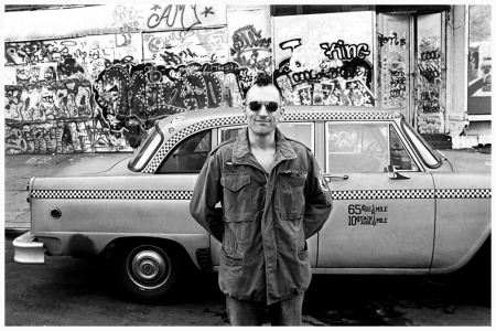 Robert De Niro during the filming of  movie Taxi Driver Photo Steve Shapiro 1976