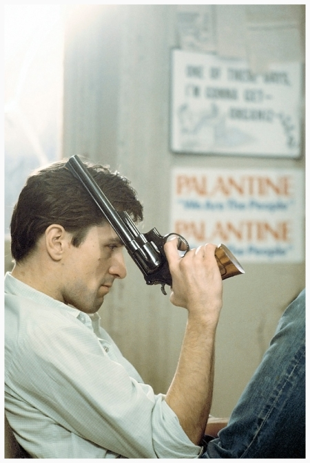 Robert De Niro on the set of Taxi Driver Photo Steve Shapiro 1976