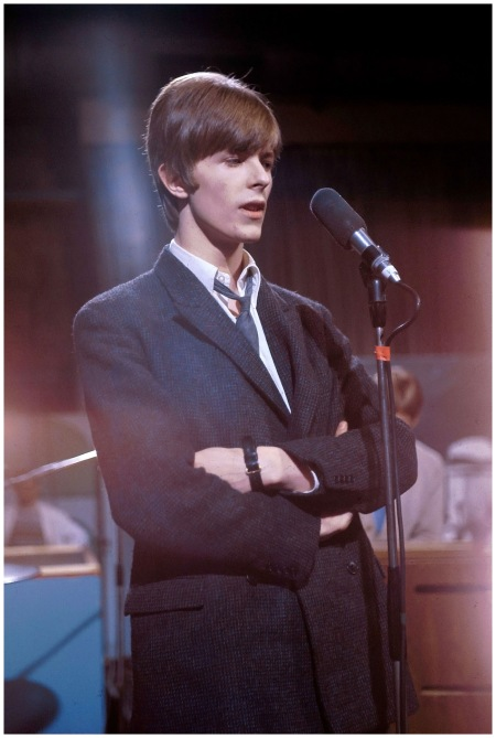 At Wembley Studios in London with his then-band, The Buzz, performing on a television show sporting a Mod look 1966 Getty