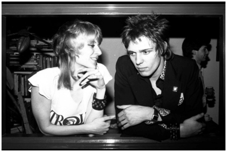 Caroline Coon and Paul Simonon, 1977