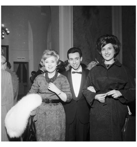 Wilma De Angelis, Umberto Bindi e Mina al Festival del 1960 (Archivi Rcs:Fedele Toscani)