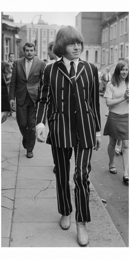 "Striped stoner,"" Brian Jones, 1967"